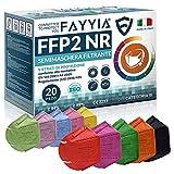 20St. ffp2 masken, 5-lagig schutz ffp2 maske bunt, ffp2 maske ce zertifiziert CE 2233,...