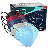HUHETA FFP2 Maske Bunt, 30 Stück, CE 0598 Zertifiziert, 5-Lagen-Atemschutzmaske mit...